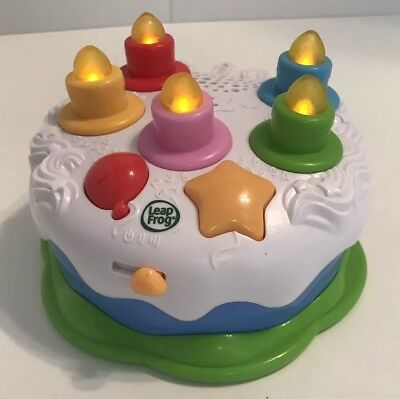 Leapfrog Counting Candles Birthday Cake Interactive Learning Musical Toy Lights