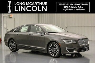 2018 Lincoln MKZ/Zephyr BLACK LABEL THOROUGHBRED THEME 2.0  FWD SEDAN JET BLACK VENETIAN HEATED COOLED LEATHER SEATS WITH DIAMOND L PERFORATION BLIS