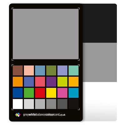 THE NEW 3 in 1 Grey White Balance Colour Card: The Mid-size Colour Card