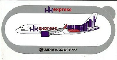 STICKER AUTOCOLLANT AIRBUS A320neo Hong Kong Express Airways
