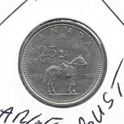 1973 LARGE BUST Canadian 25 Cent Quarter Nice (Rare)