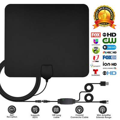TV Antenna, TV Digital HD - Support All TV's Best 70+ Miles High Definition NEW