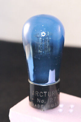 Arcturus No. 127 Blue Glass Vacuum Tubes Tested At 75 %+