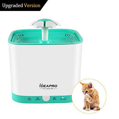 Pet Fountain Cat Water - Automatic Electric Bowl Flower Dispenser NEW US