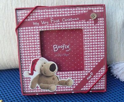 LOVELY  Baby's  First Christmas Boofle Photo Frame, Pic Size 8 x 8 cm