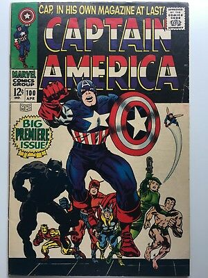 CAPTAIN AMERICA #100 First Silver Age Issue Vol. #1 1968