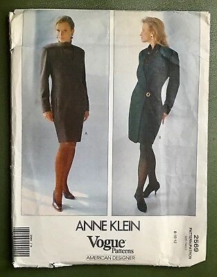 Anne Klein Vogue Vintage Sewing Pattern 2965 American Designer Women's Size 8-12