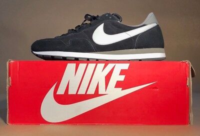 NIKE AIR PEGASUS 83 LEATHER 827922-001 MEN RUNNING SHOES OLD SCHOOL BLACK DS USA