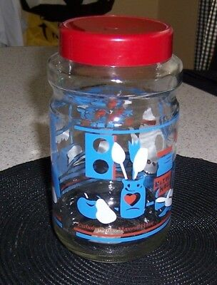 Maxwell House Coffee Vintage Glass Cannister Anchor Hocking Retro Kitchen Scene