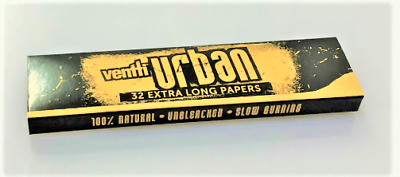 Ventti Urban Extra Long Cigarette Tobacco Paper 32 Papers Per Booklet Slow Burn