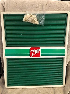 """VINTAGE 7UP MENU BOARD WITH LETTERS  - 1980'S 24"""" x 20"""""""
