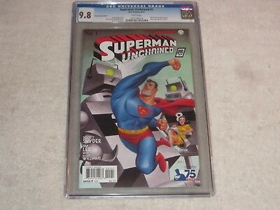 Superman Unchained 1 Bruce Timm 1:100 Variant Cgc 9.8