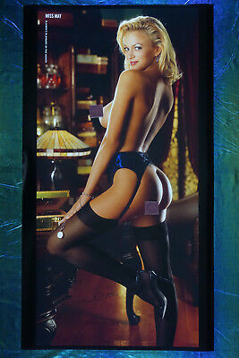 2003 Playboy Magazine Playmate Laurie Fetter Promo Poster 20X36 OOP New   03LF