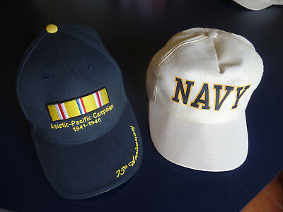 U.S. Navy Hat Asiatic Pacific Campaign 1941-1945 75th Anniversary Baseball Hats