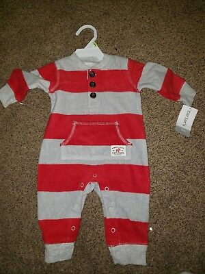 aaafe37d2767 NWT Carters Baby Boy Clothes 3 Months One Piece Long Sleeve Fleece Hooded  Romper