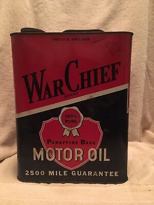 Vintage War Chief 2 Gal Motor Oil Can New York City