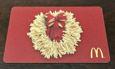 """McDonald's 2017 ARCH/GIFT CARD """"FRENCH FRY WREATH"""" Xmas Holiday NO VALUE NEW"""