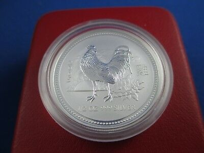 2005 50c 1/2oz Silver Coin - LUNAR YEAR OF THE ROOSTER - SERIES I - PERTH MINT!!