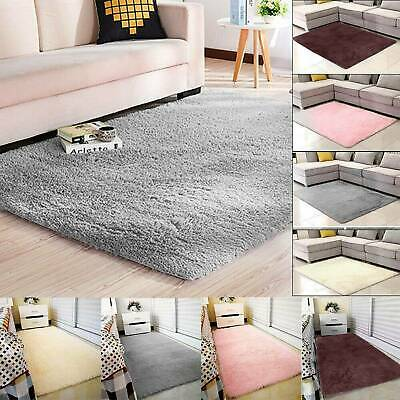 Fluffy Rugs Anti-Skid Shaggy Area Rug Dining Room Carpet Floor Mats Home Bedroom