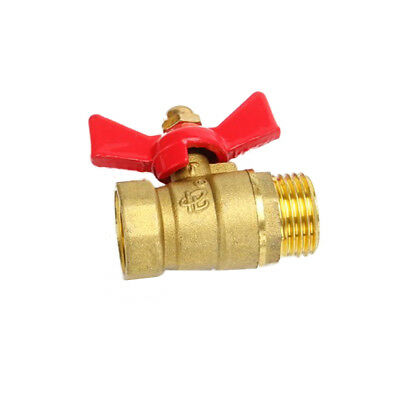 """1Pcs Female to MaLe Brass Ball Valve With Butterfly Handle DN20 3/4"""" BSP 0-60 ℃"""