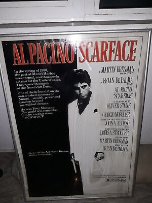SCARFACE  CineMasterpieces 1983 ORIGINAL MOVIE POSTER TONY MONTANA AL PACINO
