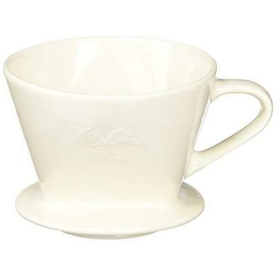 Melitta Pottery Dripper Coffee Brewer White 2-4 cup SF-T 1?2 Japan new .