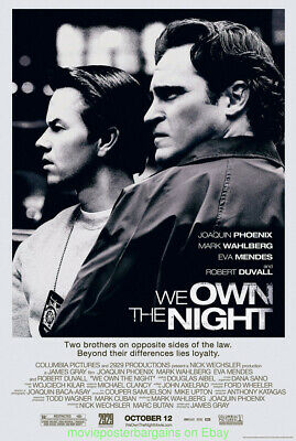 WE OWN THE NIGHT MOVIE POSTER DS 27x40 MARK WAHLBERG JOAQUIN PHOENIX 2007 Film