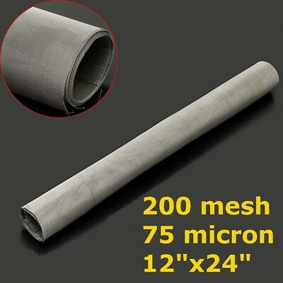 "US 12''x24"" 200 Mesh 75 Micron 304 Stainless Steel Screen Dry Ice Pollen Screen"