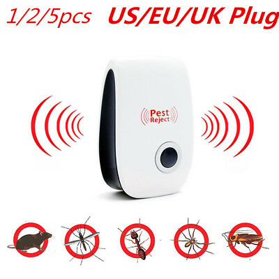 1/2/5x Ultrasonic Pest Repeller Electronic Magnetic Insect Bug Reject Anti Mouse