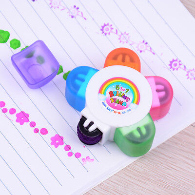 Kids Flower Scroll Stamper Drawing Toy Children Custom Rubber Painting Toys   Z