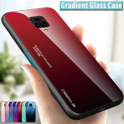 Gradient Tempered Glass Back Case Cover For Xiaomi Redmi 5 6A 7 Note 7 6 5 Pro