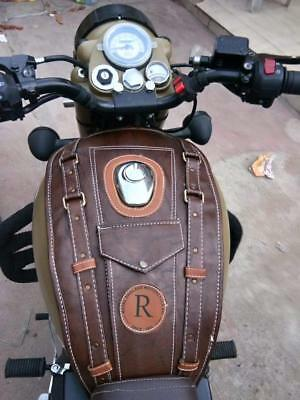 Sahara seat Tank Cover for Royal Enfield 350, 500 (Dark Brown, Classic 350)