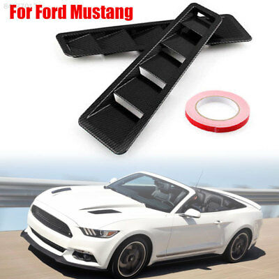 C6C1 Intake Grille 2pcs Cars Bonnet for for Ford Mustang Hood Vent Louver Scoop