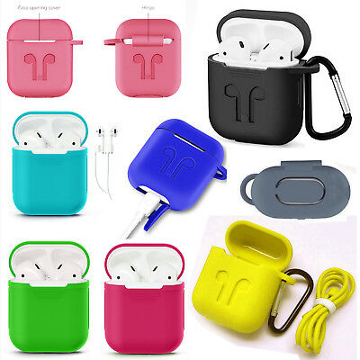 Silicone Airpods Earphone Protective Case Skin Cover For Apple AirPod iPhone