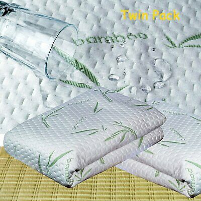 Soft Bamboo Cotton Waterproof Mattress Cover Protector 16'' Deep Hypoallergenic
