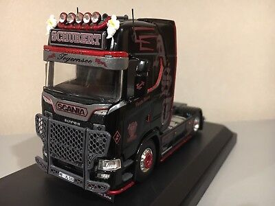 """TEKNO 71592 SCANIA S HIGHLINE TRACTEUR SOLO 4X2  /"""" ANDREAS SCHUBERT /"""" NEUF"""
