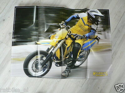 D776 Brochure Poster Husaberg 2004 Models Motocross Enduro English 16 Pages Fold