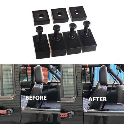 Black Rear Seat Recline Bolts & Washers Kit For 07-18 Jeep Wrangler JK Unlimited