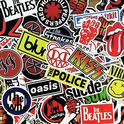 Glossy Band Stickers - Rock Music - Stones, Beatles and More - Bundles & Singles