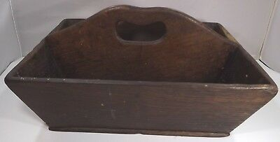 Antique Georgian Oak Cutlery Box Carrier with Handle