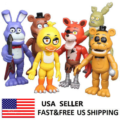 Five Nights at Freddy's FNAF Foxy Bonnie Chica Game Action Figure Toys Gift 6PCS