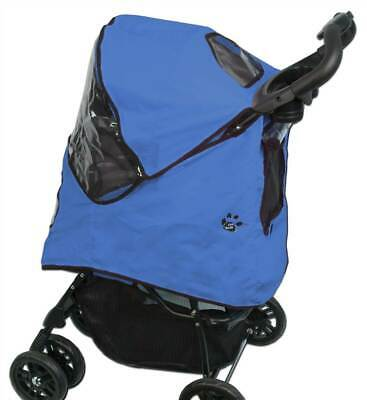 Happy Trails Pet Stroller Cover in Cobalt Blue [ID 77403]