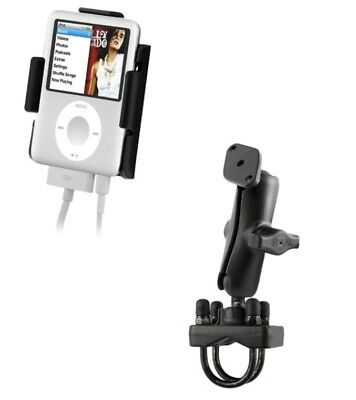 Handlebar Motorcycle Rail Pipe Mount Kit Fits Apple iPod Nano 3G 3rd Generation