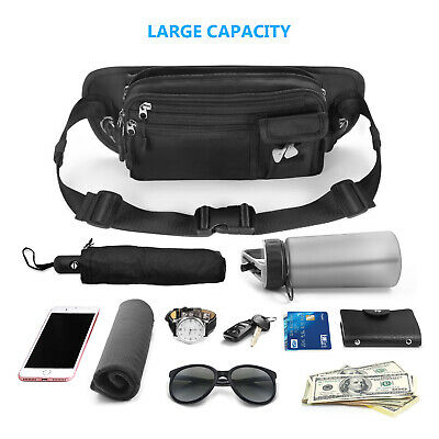 HOMPO Bum Bag Waist Pouch Travel Bag Fanny Pack Belt Zip Pouch with Side Pocket