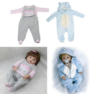 """Lovely Clothes for 22""""-23"""" Reborn Baby Girl Boy Doll Toddler Rompers Pants"""