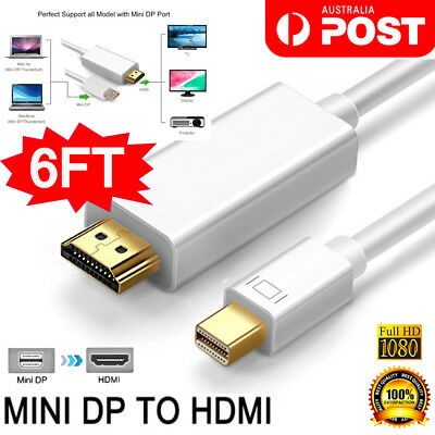 Mini DP DisplayPort to HDMI Adapter Cable 1.8M for Mac Pro MacBook Air iMac