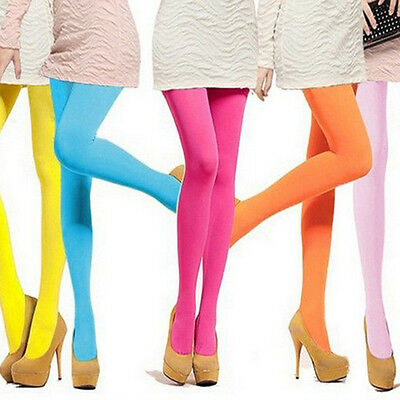 New Candy Colors Opaque Footed Socks Tights Slim Pantyhose Women Stockings Charm