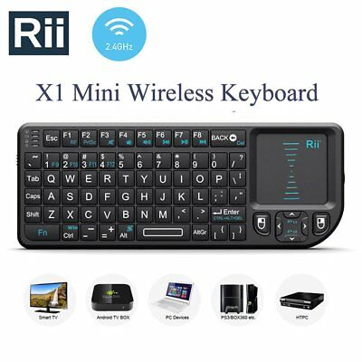 Rii X1 Mini 2.4G Wireless Keyboard with Touchpad for Smart TV for HTPC for PC