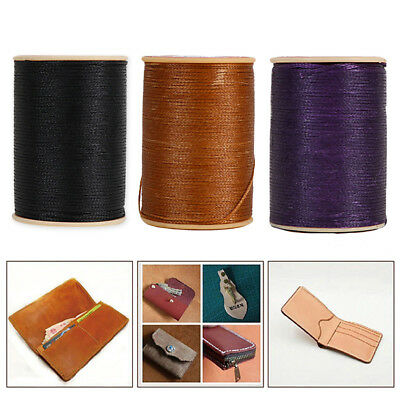 100M Waxed Thread String 0.8mm Cord Hand Sewing Stitching Leather Craft Repair