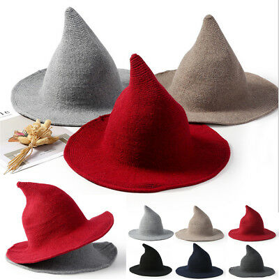 6d9c33a4ac9 2018 Witch Pointed Spire Wool Korean version Winter Female Knit Fisherman  Hat